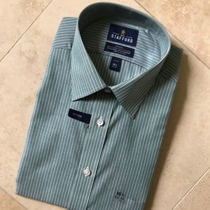NWT Green Stripe fitted button down (16.5/32-33)